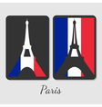Eiffel tower magnet design vector image