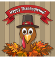 Happy Thanksgiving Day Emblem vector image