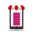 online shopping pink bag gift design vector image
