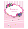 Rose Invitation Card with lace ornaments vector image