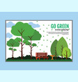 a cozy place to relax with bench in nature vector image vector image