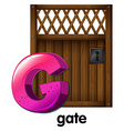 A letter G for gate vector image vector image