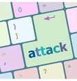 attack button on computer keyboard key vector image