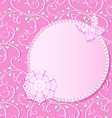 background card with flower lace and delicate vector image