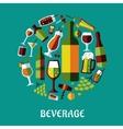 Beverage flat design poster vector image