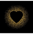 Black abstract background with Gold glitter Heart vector image