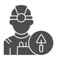 builder solid icon engineer vector image vector image