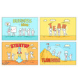 business idea and teamwork on startup vector image vector image