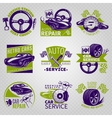 Car Repair In Color Emblem Set vector image vector image