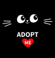 cat face silhouette adopt me eyes moustaches in vector image vector image