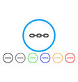 chain rounded icon vector image vector image