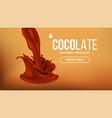 chocolate splash cream liquid milk swirl vector image vector image