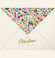 christmas and new year retro folk art decoration vector image vector image