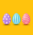colorful eggs with patterns vector image vector image