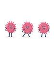coronavirus - covid-19 bacteria icons set vector image