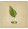 eco old background vector image