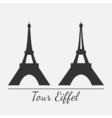 Eiffel tower silhouette vector image