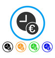 euro recurring payments rounded icon vector image vector image