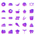 food gradient icons on white background vector image