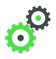 Gear wheels flat icon vector image vector image