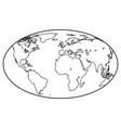 globe contour icon vector image