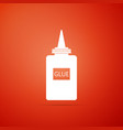 glue icon isolated on orange background vector image