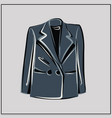 gray blazer oversize fashion basic wardrobe vector image vector image