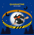 halloween is canceled quarantine 2020 ban vector image