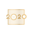 happy new year gold numbers 2020 vector image