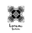 Henna mehendi drawing mandalas drawn pattern vector image vector image