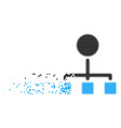 hierarchy disappearing pixel icon vector image
