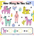 how many do you see - count and write vector image