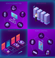 iot business office isometric concept vector image vector image