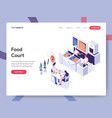 landing page template food court concept vector image vector image