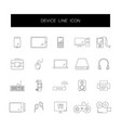 line icons set device pack vector image vector image