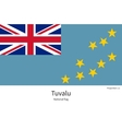 National flag of Tuvalu with correct proportions vector image vector image