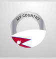 nepal my country flag badge vector image