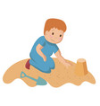 playing child kid cartoon vector image