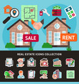 real estate colored composition vector image
