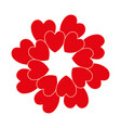 red circle heart vector image vector image