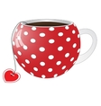 Red cup with white circles vector image vector image