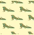reptile chameleon amphibian seamless pattern vector image vector image