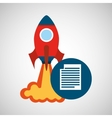 rocket launch start up business document graphic vector image vector image