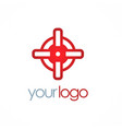 round target logo vector image vector image