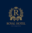 royal hotel logo vector image