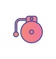 school bell flat icon sign symbol vector image