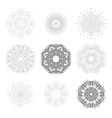 Set of round shapes technical vector image vector image