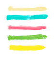 set of yellow green turquoise pink watercolor vector image vector image