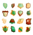 Shield icons set in cartoon style vector image vector image