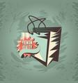 shopping bag premium quality grunge retro style vector image vector image